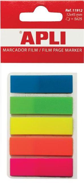 Index Apli,12x45mm,5x25file,plastic