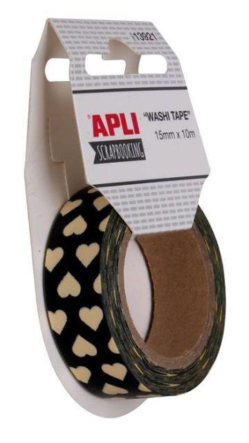 Banda adeziva 15mmx10m,Apli,Heart