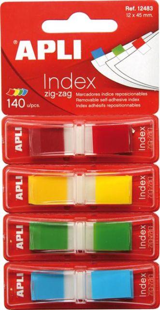 Index Apli,12x45mm,4x35file,culori mate