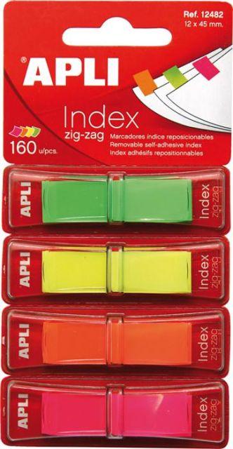 Index Apli,12x45mm,4x40file,culori neon