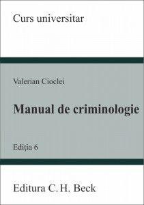 MANUAL DE CRIMINOLOGIE ED 6