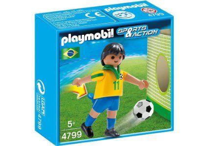 Playmobil-Jucator fotbal,Brazilia