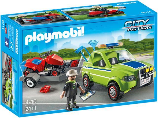 Playmobil-Om cu masina de tuns iarba