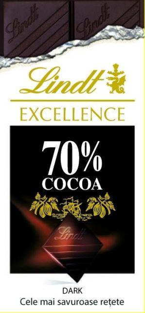 LINDT EXCELLENCE 70% CACAO DARK. CELE MAI SAVUROASE RETETE