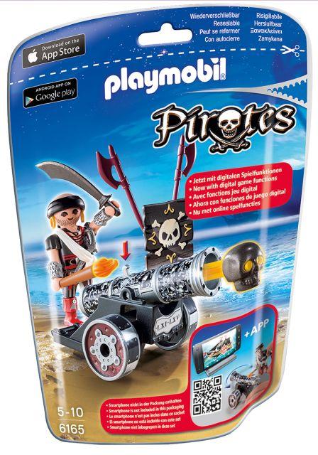 Playmobil-Talhar cu tun negru