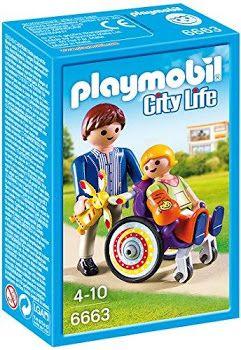 Playmobil-Copil in carucior cu rotile