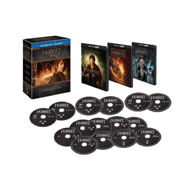 BD: HOBBIT TRILOGY  Extended Edition (15 disc) 3D
