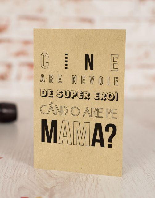 Felicitare Super Hero Mum