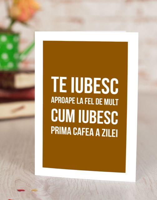 Felicitare Love U Like Coffee