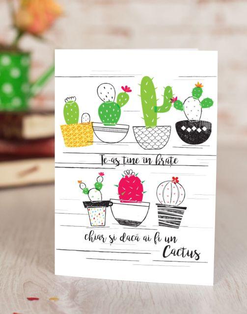 Felicitare Cactus Hug