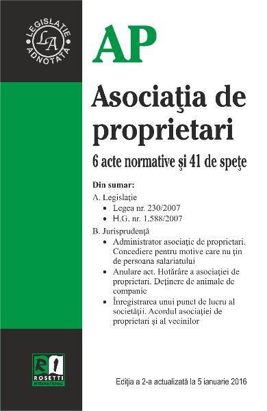 ASOCIATIA DE PROPRIETARI - EDITIA A 2-A (2016-01-05)