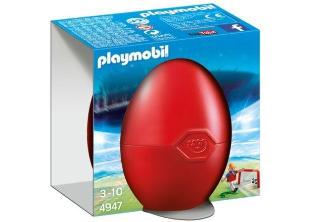 Playmobil-Jucator de fotbal si poarta