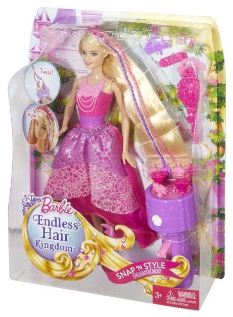 Papusa Barbie,regatul parului fara sfarsit,set