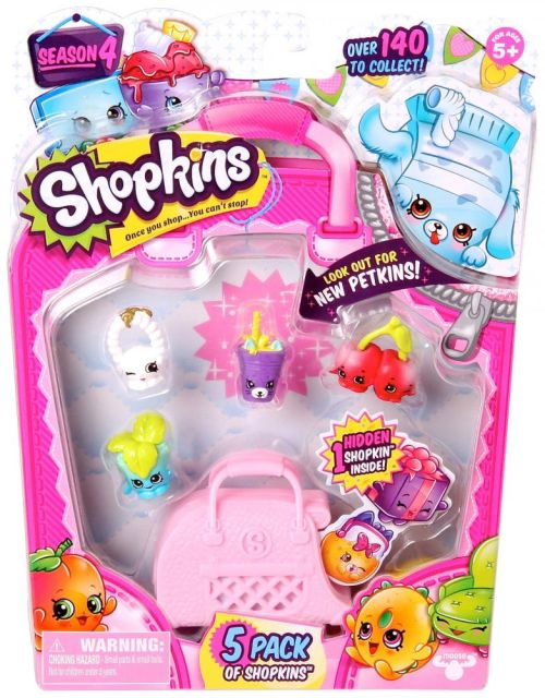 Figurina Shopkins,S4,5buc/set