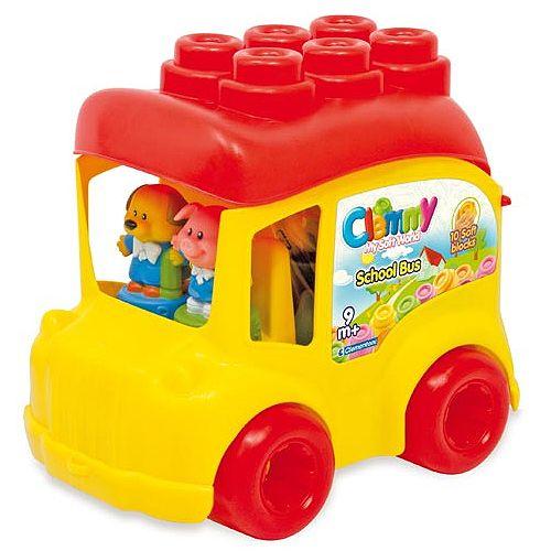 Autobuz scolar cu 12 cuburi,Clemmy