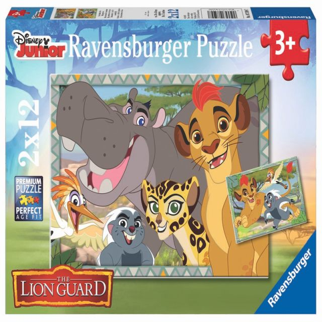 Puzzle Garda felina,2x12pcs