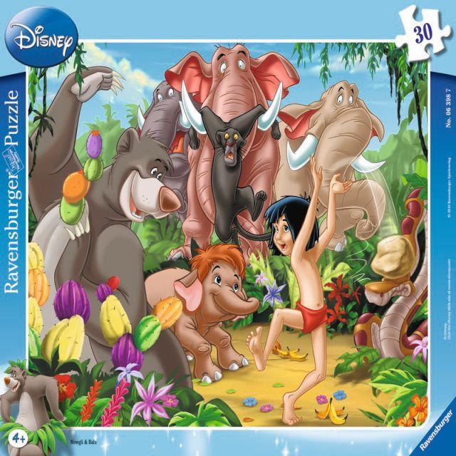 Puzzle Mowgli si Baloo,30pcs