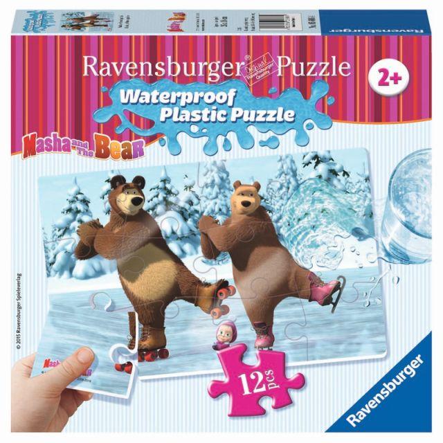 Puzzle Masha si Ursul,12pcs,piese plastic