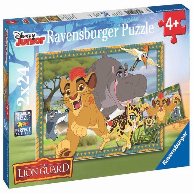 Puzzle Garda felina,2x24pcs