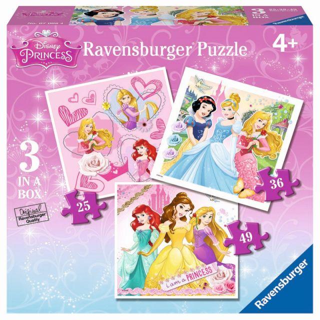 Puzzle Printesele Disney,25/36/49pcs,