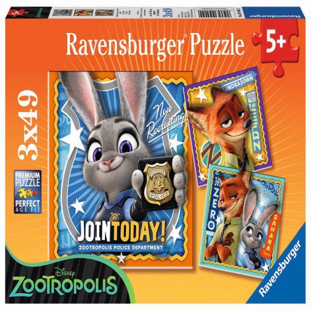 Puzzle Zootopia,3x49pcs