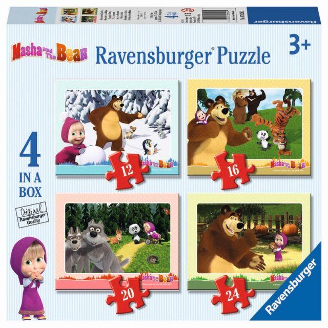Puzzle Masha si Ursul,12/16/20/24pcs