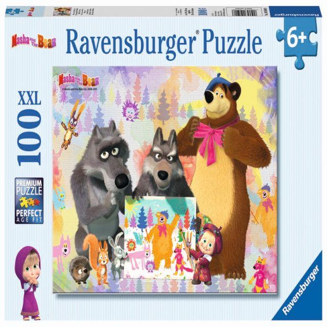 Puzzle Masha si Ursul,100pcs