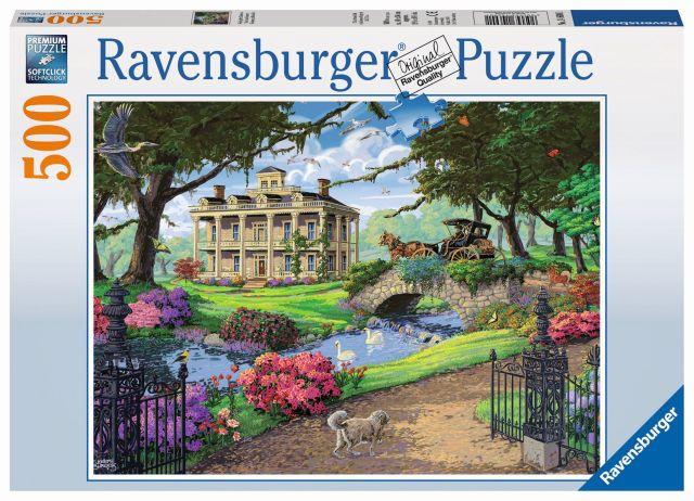 Puzzle in vizita la conac, 500 piese