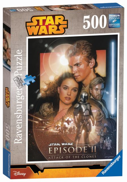 Puzzle star wars, ep. ii, 500 piese