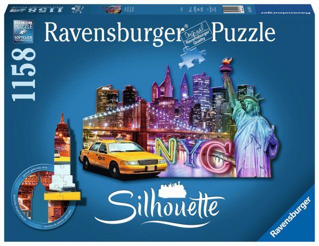 Puzzle contur orizont new york, 1158 piese
