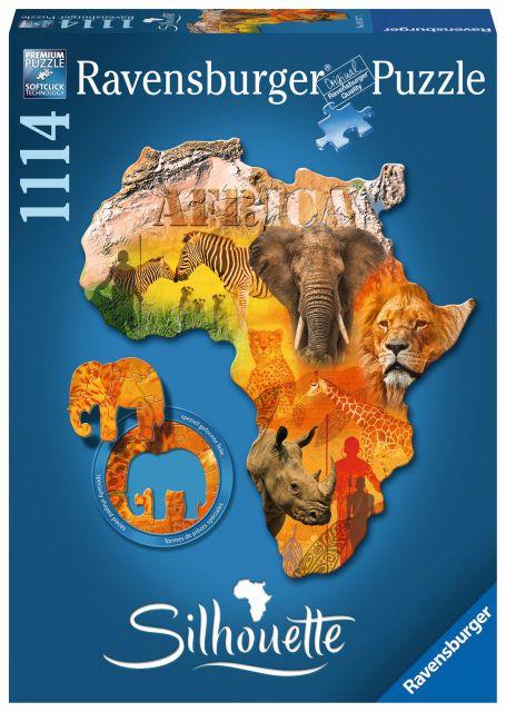 Puzzle contur continentul africa, 1114 piese
