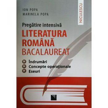 LITERATURA ROMANA BACALAUREAT.PREGATIRE INTENSIVA. INDRUMARI,CONCEPTE OPERATIONALE, ESEURI