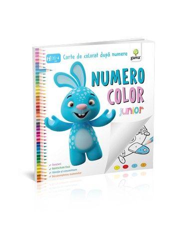 NUMERO COLOR JUNIOR. CARTE DE COLORAT DUPA NUMERE