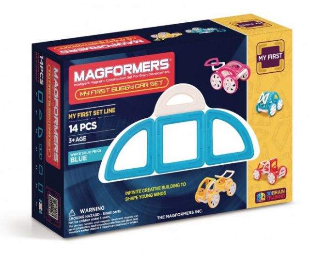 Magformers,set constructie,magnetic,20pcs,my first,masina,albastra