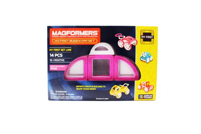 Magformers,set constructie,magnetic,20pcs,my first,masina,roz