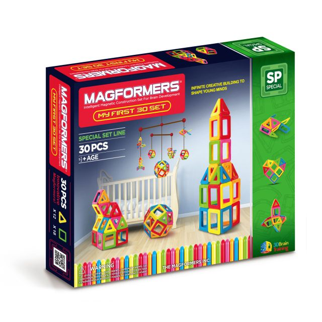Magformers,set constructie,magnetic,30pcs,my first,baby