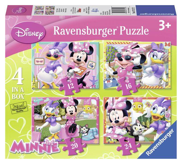 Puzzle Minnie,12/16/20/24pcs,4/set,07127