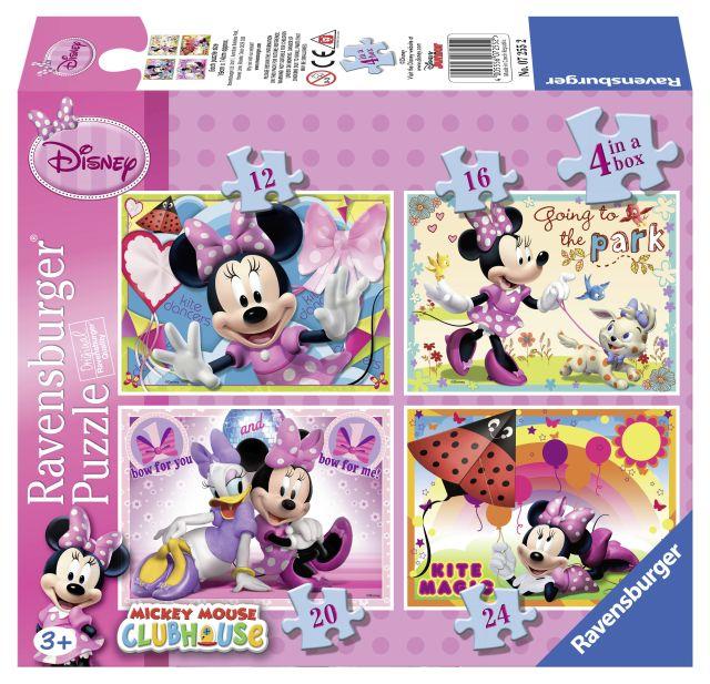 Puzzle Minnie,12/16/20/24pcs,4buc/set,07255