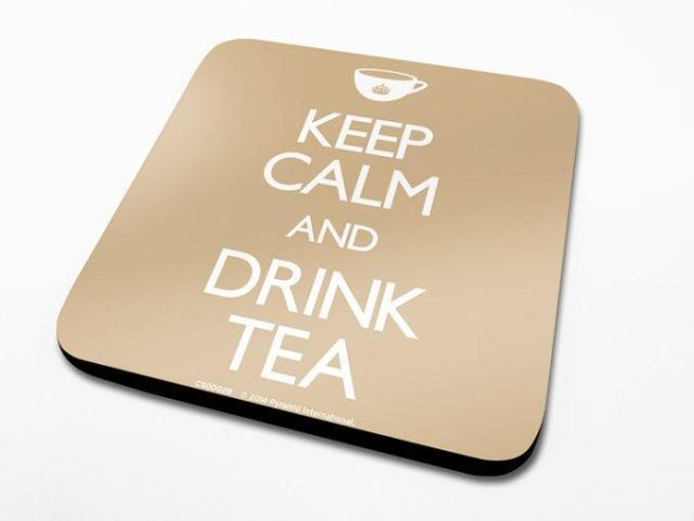 SUPORT PAHAR 'KEEP CALM, DRINK TEA'