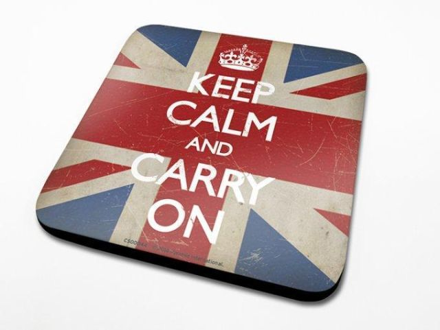 SUPORT PAHAR 'KEEP CALM - UNION JACK'