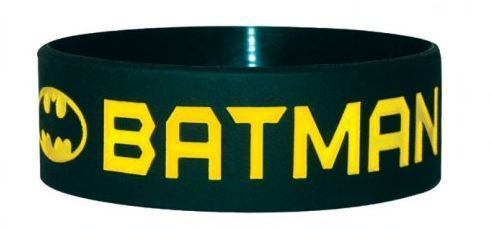 BRATARA SILICON 'BATMAN (TEXT AND LOGO)'