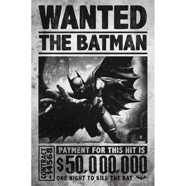 POSTER 'BATMAN ARKHAM ORIGINS (WANTED)' MARIME 61cm x 91.5cm