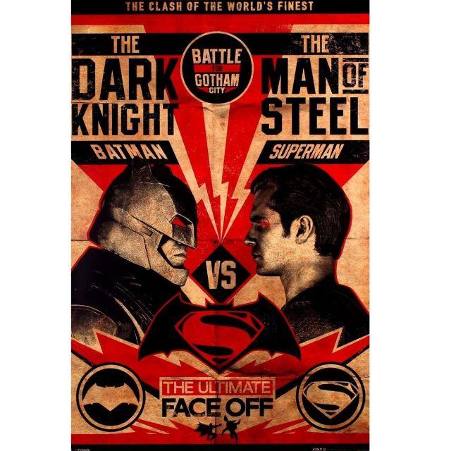 POSTER 'BATMAN V SUPERMAN (FIGHT POSTER)' MARIME 61cm x 91.5cm
