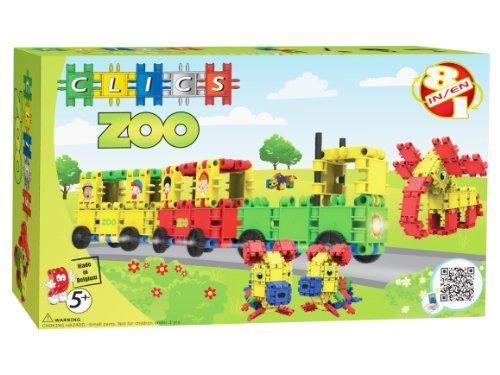 Clics,set constructie,8in1,Zoo