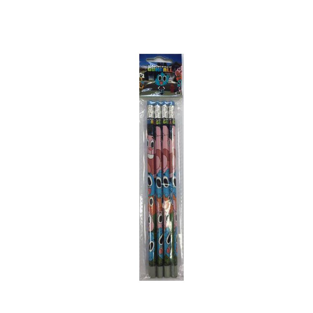 Creioane grafit,4/blister,Gumball