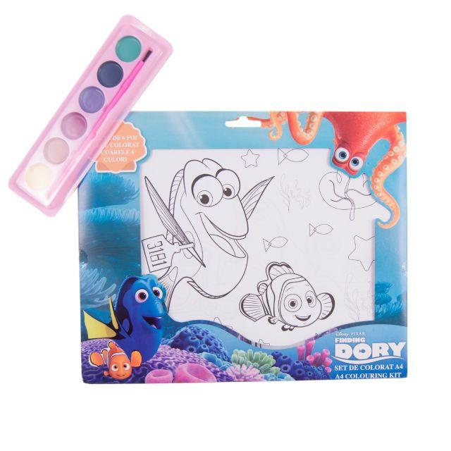 Set coloriaj,acuarele si pensula,Dory