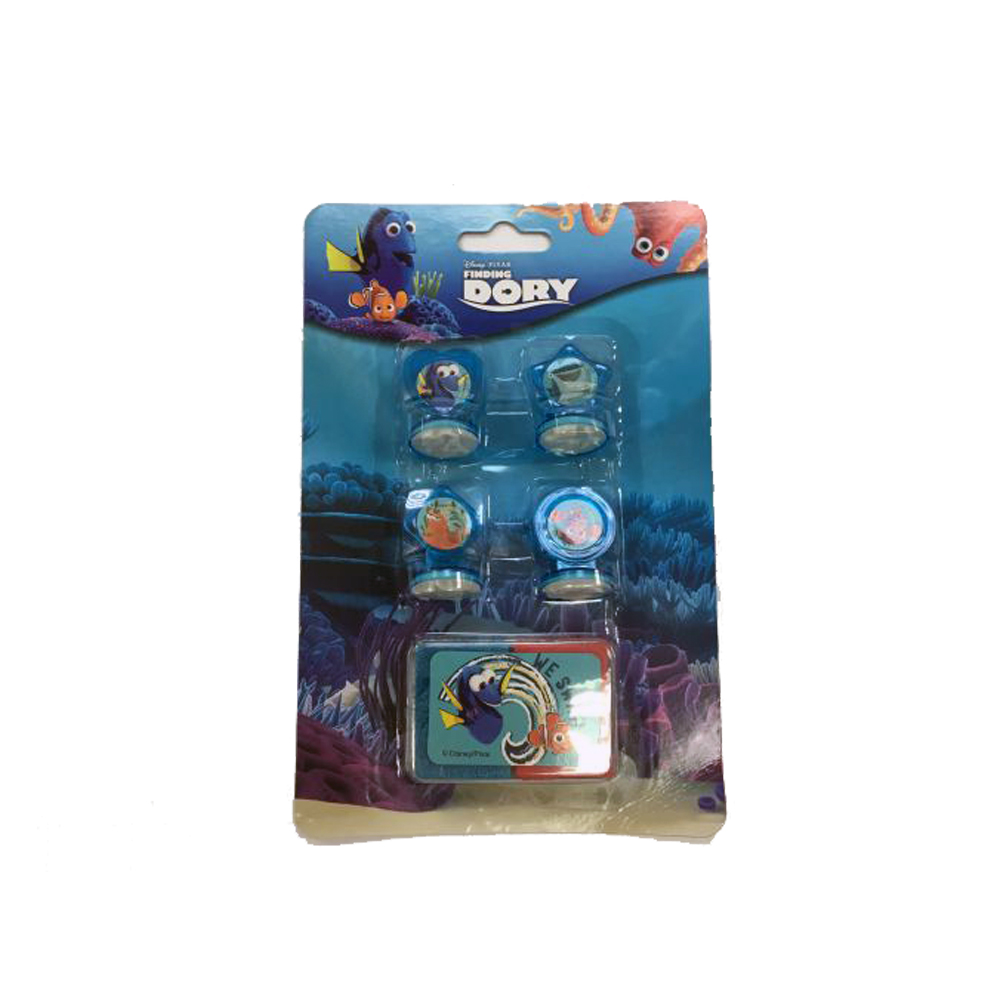 Stampile 4buc/set+tusiera,Finding Dory