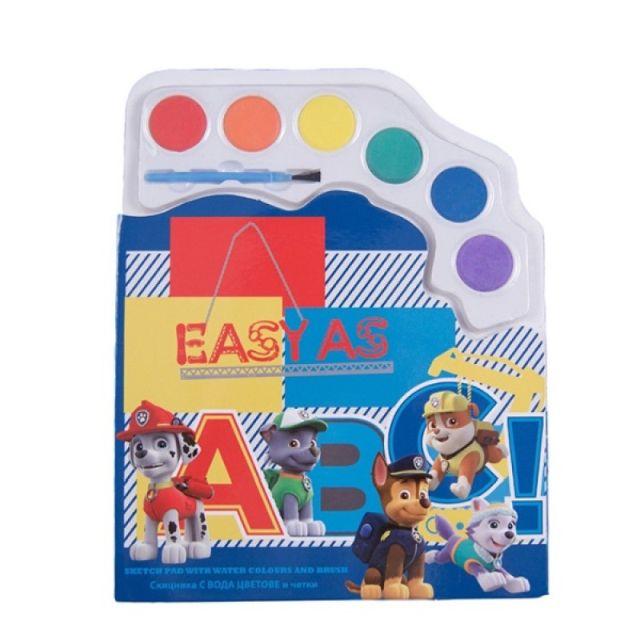 Caiet de colorat,cu acuarele,PawPatrol