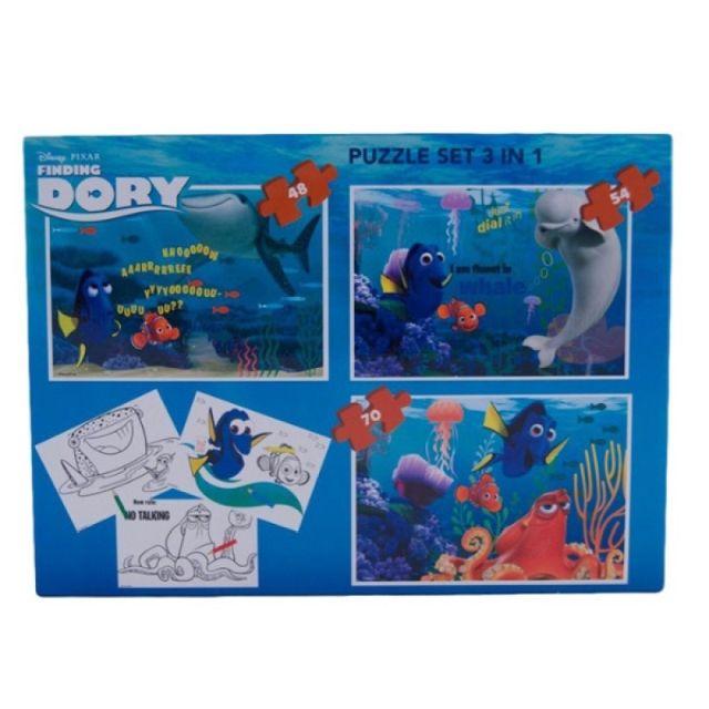 Puzzle 3buc/set,coloriaj,Finding Dory