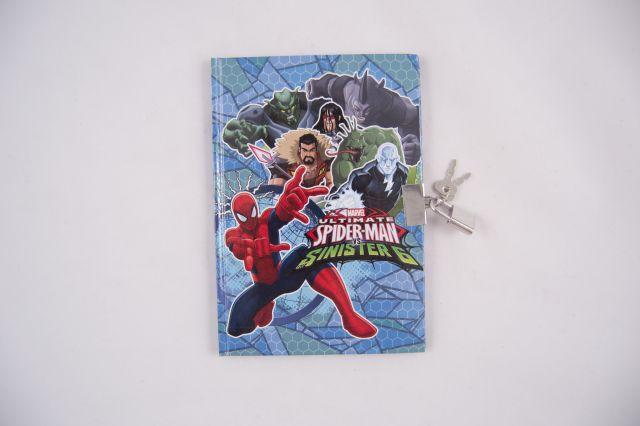 Agenda cu lacat,Spiderman